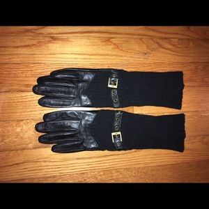 Echo leather/fabric gloves